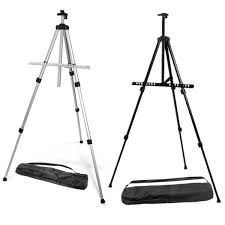 excellent quality outdoor aluminium alloy folding painting easel frame adjule tripod display stand and carry bag art tool in tools from home garden on