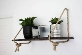 hanging rope shelf diy