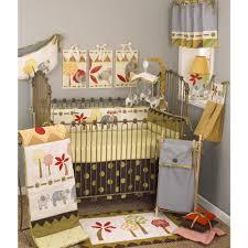 cotton tale elephant brigade jungle 4 piece crib bedding set ivory green