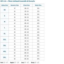 Mens Coverall Size Chart Men Women Dickies Long Sleeve
