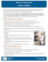 home safety alzheimer s caregiving tips national institute on aging