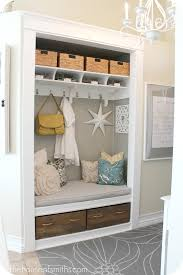 the house of smiths did a great job making over this entryway closet i m a firm believer that it s easier to stay organized when the space is pretty
