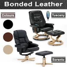 office recliner chairs. Image Is Loading NEW-REAL-LEATHER-SWIVEL-RECLINER-CHAIR-w-FOOT- Office Recliner Chairs