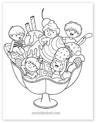 adorable summer coloring pages for kids