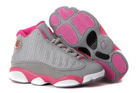 jordan shoes for girls pink and white. girls air jordan 13 retro gray pink white for sale shoes and