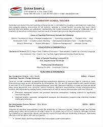 Free Resume Templates Word Elementary Teacher Cv Template