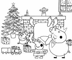 Recycled toilet paper rolls colored paper sheets printed images of peppa, her family and friends scissors. Peppa Pig Coloring Pages Print For Free Wonder Day