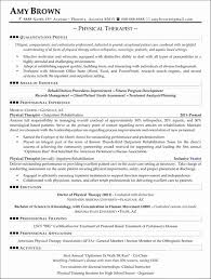 Physical Therapy Resume Gorgeous Resume For Physical Therapy Luxury Respiratory Therapist Resume