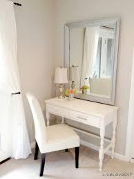 corner bedroom vanity. a small vanity table or desk for the bedroom. top corner bedroom d