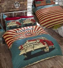 retro garage bedding set zoom
