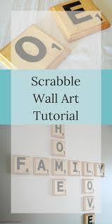 Scrabble Wall Tiles Scrabble Wall Art Tutorial Farm Girl Reformed