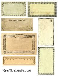 free vine labels collage sheet