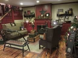 Love this furniture. Primitive FireplacePrimitive Living RoomCountry ...