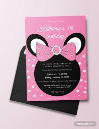 Free Minnie Mouse Birthday Invitations 33 Minnie Mouse Birthday Invitation Templates Psd Word
