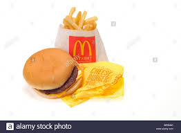 mcdonalds cheeseburger and fries. Cheeseburger And French Fries On White Background Cutout Stock Image Mcdonalds