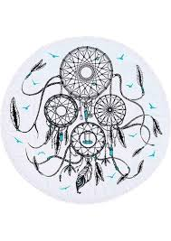 Beach Dream Catchers Dream Catcher Printed Round Beach Blanket Fairyseason 94
