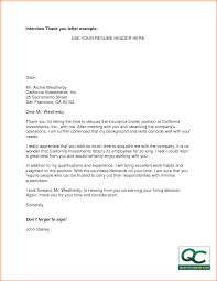 Letter Thank You Letter For Resume