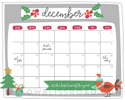 December Calendar Blank Free Printable Christmas Countdown Calendar For December 2 Versions