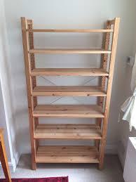 2 ikea pine wooden shelving units ivar albert