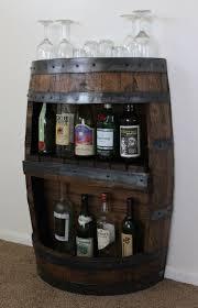 pallet whiskey rack. Whiskey Barrel Bar With Shelf, Reclaimed Bar, Furniture, Barrel, Wine Liquor Cabinet Christmas Gift Pallet Rack
