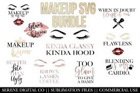 Create cool crafts using our editable svg cutting files & png images! Makeup Design Bundle Svg Png Dfx Cutting Files 101547 Cut Files Design Bundles