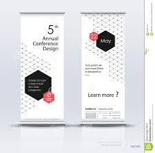 Company Backdrop Design Roll Up Banner Design Stock Vector Illustration Of Backdrop