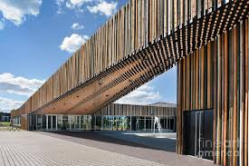 contemporary office building. Modern Contemporary Bike Racks Office Design With Wooden Panels Building H