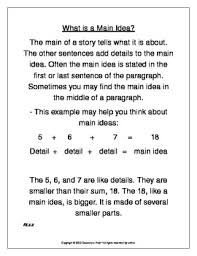 Main Idea Chart Examples Main Idea Anchor Chart Assessments Aligned With Common Core Ri 2 2