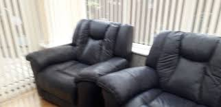 navy blue leather reclining sofa chair