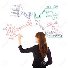 business w drawing a future career plan on white background stock photo business w drawing a future career plan on white background