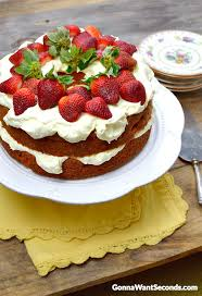 Strawberry Cream Cake Gonna Want Seconds