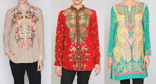 Designer Indian Tunics Ritu Kumar Stylish Indian Kurtis Tunics Collection 2015