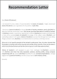 Personal Letter Of Reference Format Recommendation Letter