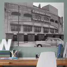 chicago white sox comiskey park historic mural giant officially licensed mlb removable wall graphic