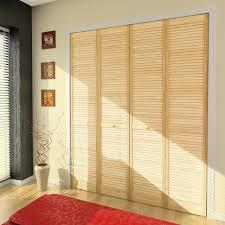 louver pine bifold door with narrow slats