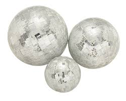 Decorative Bowl With Orbs Home Accessories Silver Disco Decorative Orbs Balls Set Of 60 60