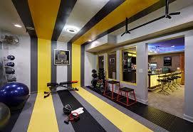 Gym decor ideas home gym contemporary with yellow stripes weight room gym  equipment