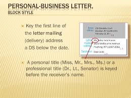 Personal Business Letter Block Style 27 Unit 3 3 5 3 5 1 Letters Lessons Ppt Video Online Download