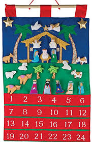 advent calander amazon com nativity fabric advent calendar countdown to christmas
