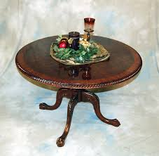 round chippendale mahogany 46 burl top table