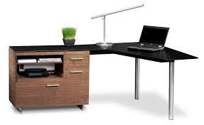 modern espresso corner desk contemporary pertaining to decorations 5