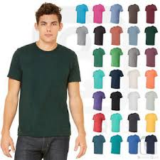 Details About Bella Canvas Tri Blend Short Sleeve Tee Modern Fit Soft Crew Neck T Shirt 3413