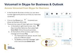 Ulster Ac Uk Voice Mail In Skype For Business Outlook Skype For