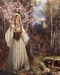 the lady of shalott mixed media this painting by is  the lady of shalott 2010 mixed media this painting by is inspired by