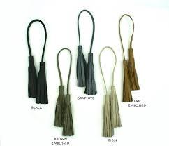 double leather tassel purse charm tassel for handbag strap tassel accessory in black