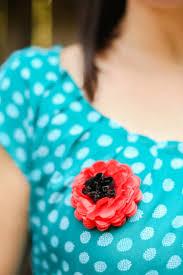 Make A Paper Poppy Flower Remembrance Tissue Paper Poppy Pin Hey Lets Make Stuff