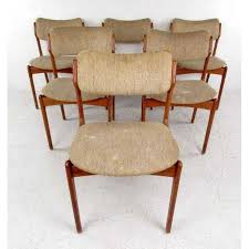mid century skovby teak dining table and six od mobler chairs image 6 of red exterior design ideas in addition set 6 model 49
