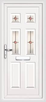 upvc front door with pilkington k glass