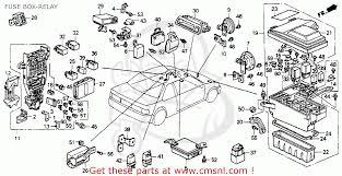 honda accord 1990 (l) 2dr dx (ka,kl) fuse box relay schematic Honda Accord Fuse Box Location fuse box relay schematic 2006 honda accord fuse box location