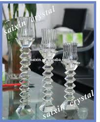 glass goblet candle holder crystal for wedding centerpiece candles tall holders